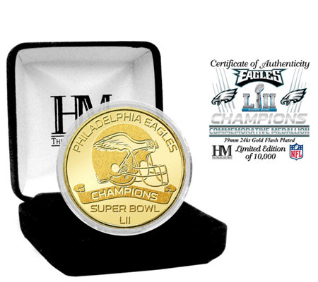 Philadelphia Eagles Super Bowl LII Champs Gold Mint Coin