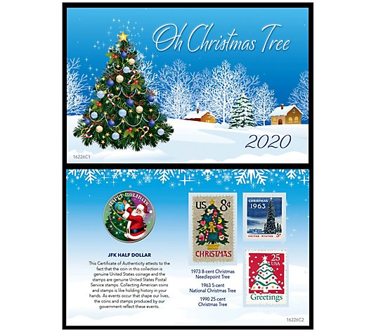 Photo Christmas Cards 2020 Under 25 Cent Each 2020 Christmas Greetings Coin and Stamp Card   QVC.com