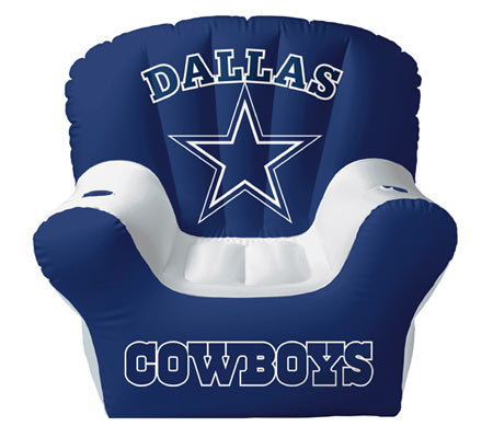 Dallas Cowboys Inflatable Chair With Two Drinkholders