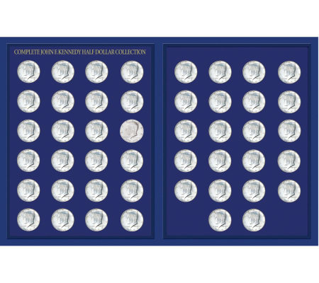 JFK Half-Dollar Collection in Deluxe Portfolio