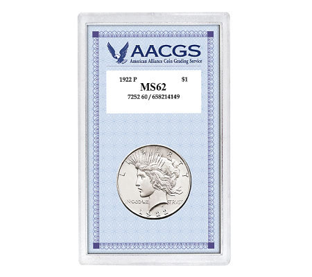 1922 Peace Silver Dollar Graded MS62