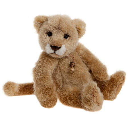 "Charlie Bears Collectible 12"" Savannah Lion Bea r"