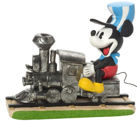 "Precious Moments Disney Mickey ""On the Right Track"" Figure"