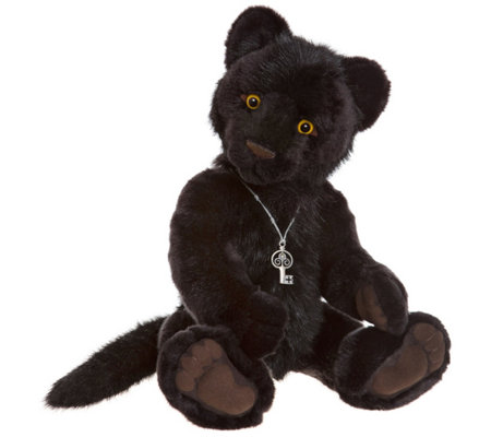 "Charlie Bears Collectible 19"" Sheba Panther Bea r"