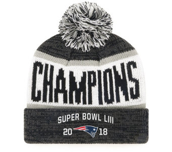 09f9c5d2a NFL Super Bowl LIII Champ PatriotsBeanie with Pom - C215421