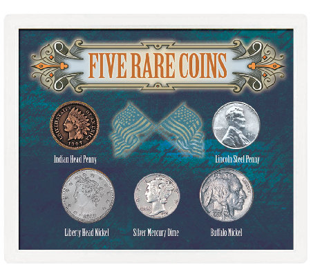 Five Rare Coins Collection in Sealed Case