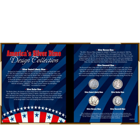 America's Silver Dime Design Collection