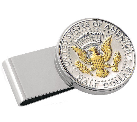 Presidential Seal Half-Dollar Stainless Steel Money Clip