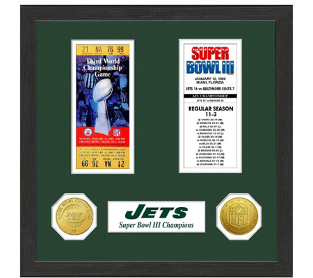 New York Jets Super Bowl Championship Ticket Collection