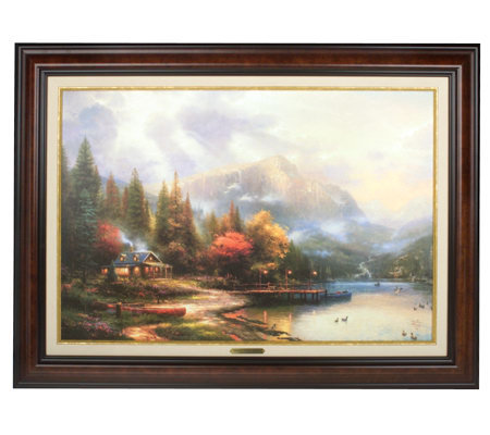 End Of A Perfect Day Iii Canvas Classic By Thomas Kinkade Qvc
