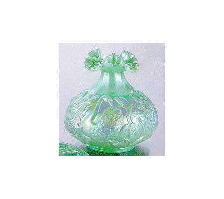 Fenton Art Glass 8 Sea Green Satin Glass Vase Qvc