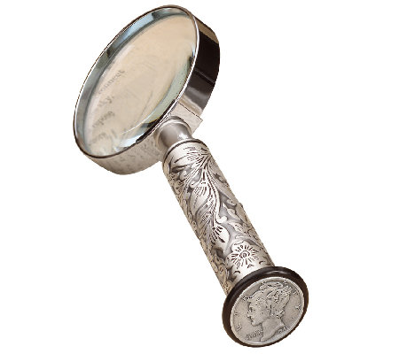 American Coin Treasures Silver Mercury Dime Magnifying Glass