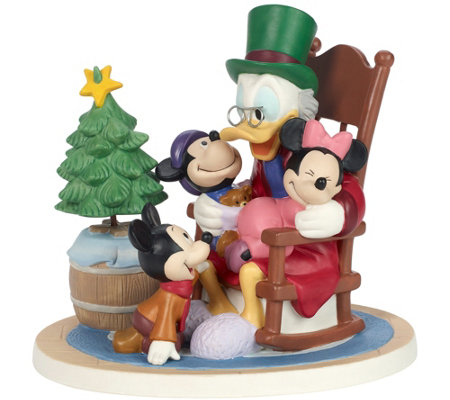 Scrooge Mcduck Christmas Carol.Disney Mickey S Christmas Carol Figurine By Precious Moments Qvc Com