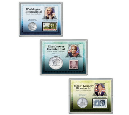 American Coin Treasures Presidential Coin and Stamp Set