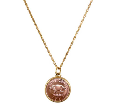 American Coin Treasures Pig Coin Pendant