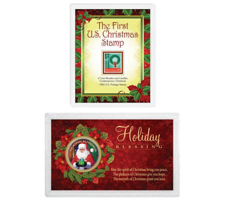 Christmas Stamp and Coin Set
