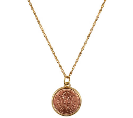 American Coin Treasures Trident Coin Pendant
