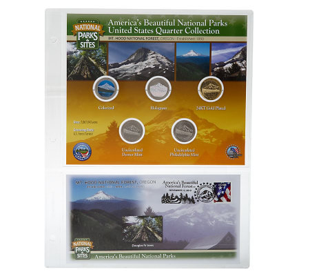 United States National Parks &Sites Quarters Program Mt. Hood, OR