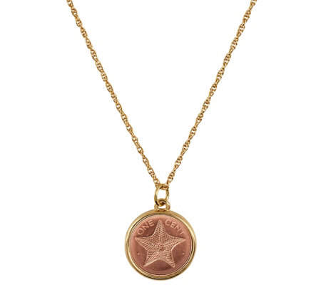 American Coin Treasures Starfish Coin Pendant