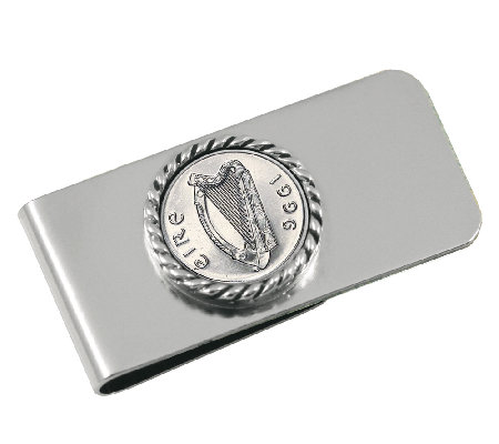 Irish Five-Pence Money Clip
