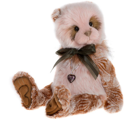 "Charlie Bears Collectible 14-1/2"" Sandie Plush Bear"
