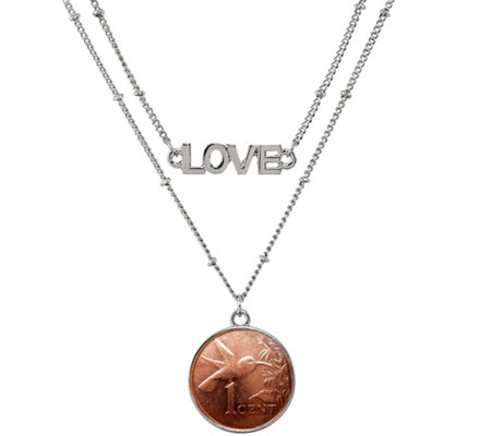 American Coin Treasures Hummingbird Coin Love Necklace