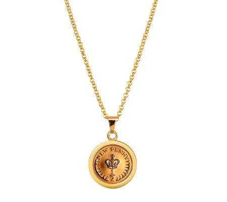 American Coin Treasures Crown Coin Pendant