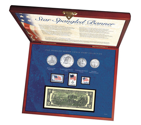 American Coin Treasures Star Spangled Coin andStamp Box Set