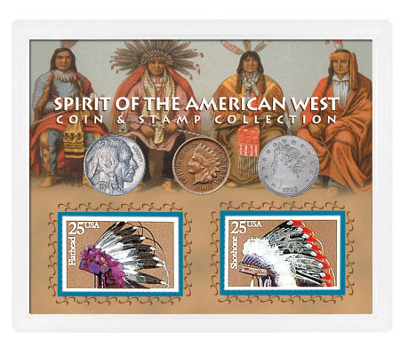 Spirit of the American West Coin & Stamp Collection