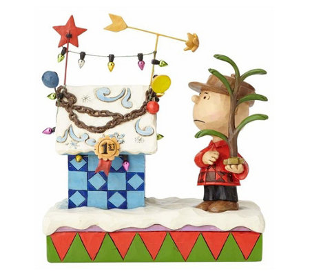 Jim Shore Charlie Brown and Decorated DoghouseFigurine