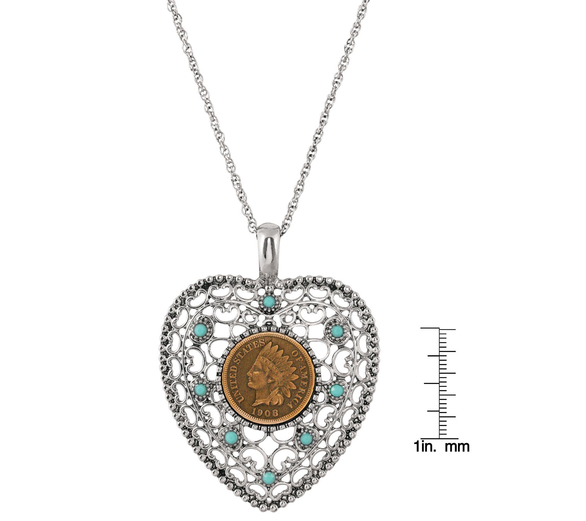 Vintage Heart Pendant /& Chain Plus Vintage Heart Pendant