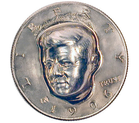 Three-Dimensional JFK Half-Dollar