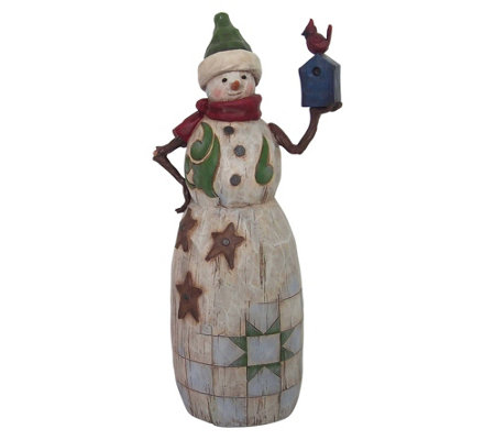 Jim Shore Heartwood Creek Snowman w/ BirdhouseFigurine