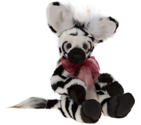 "Charlie Bears Collectible 13"" Humbug Plush Zebra Bear"