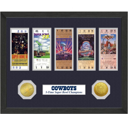 Dallas Cowboys Super Bowl Championship Ticket Collection