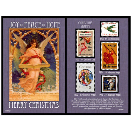 American Coin Treasures Christmas Angel Stamp Collection