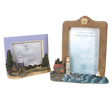 Set of 2 Sculpted Photo Frames by Thomas Kinkade — QVC.com