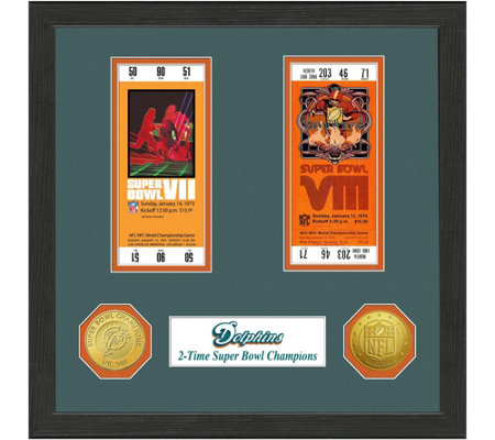 Miami Dolphins Super Bowl Championship Ticket Collection