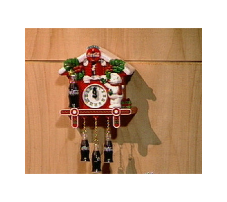 coca cola musical christmas cuckoo clock - Musical Christmas Clock