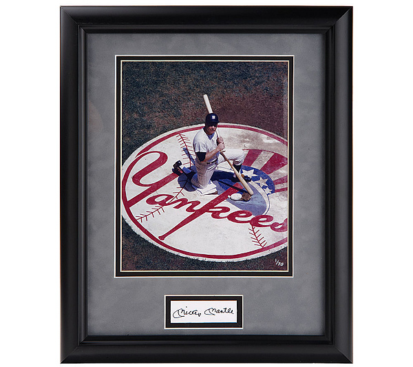 Ny Yankees Mickey Mantle Cut Signature Limited Edition Framed Piece