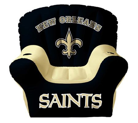 Merveilleux New Orleans Saints Inflatable Chair With Two Drink Holders U2014 QVC.com