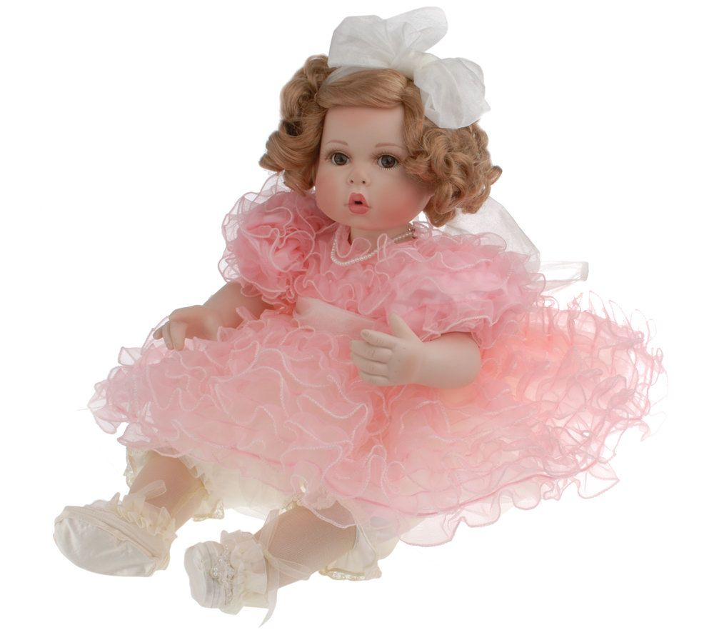 Peaches and Cream  Porcelain Toddler Doll by Marie Osmond u2014 QVC.com  sc 1 st  QVC.com & Peaches and Cream
