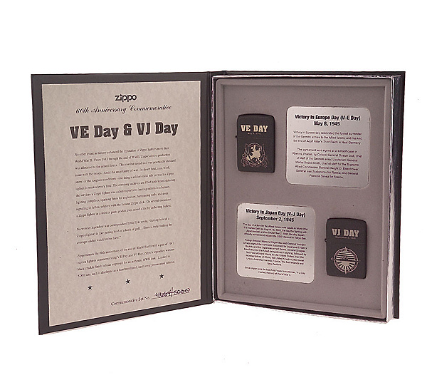 world war ii set of 2 limited edition 1941 replica zippo lighters