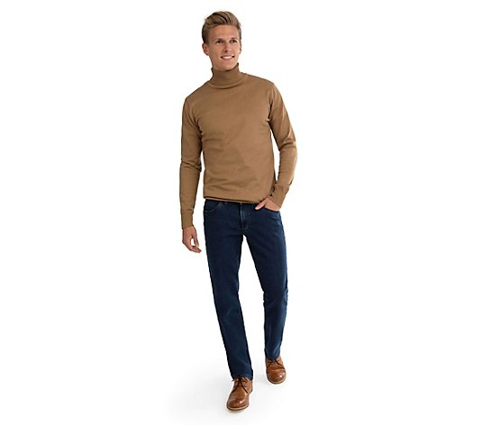 CLUB OF COMFORT® Jeanshose John gerades Bein High-Stretch-Denim aufgeraute Innenseite
