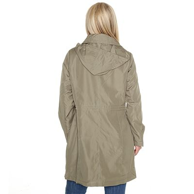 CENTIGRADE Damen-Jacke lange Form Kapuze abnehmbar - QVC.de