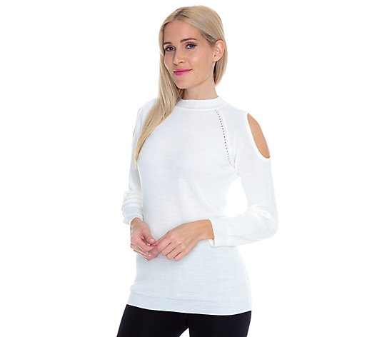 THE JETSETTERS Pullover 1/1-Arm Cut-Out-Effekt an den Schultern