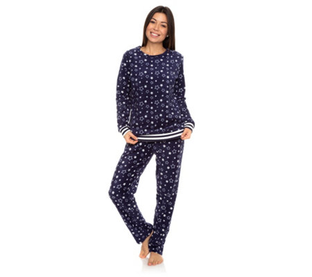 POLARSTERN HOMEWEAR MF Flanell Fleece Pyjama, 1/1-Arm bedruckt