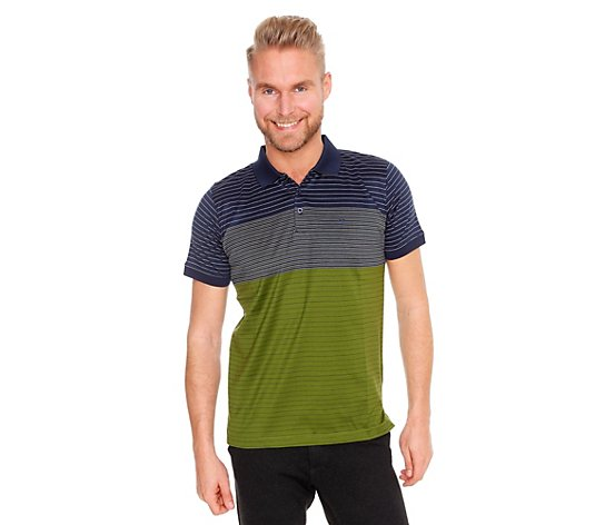 COMMANDER Poloshirt 1/2-Arm mercerisiert gestreift