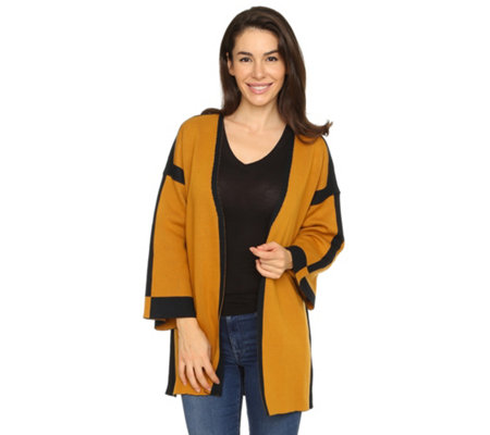 THE JETSETTERS Cardigan 2 farbig wendbar offene Front
