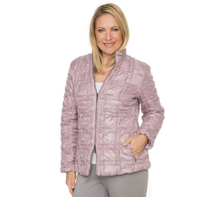 CENTIGRADE Jacke Fancy-Stepp 2-Wege-Zipper Stehkragen